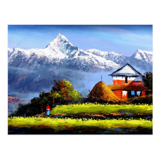 Panoramic View Of Beautiful Everest Mountain Postcard