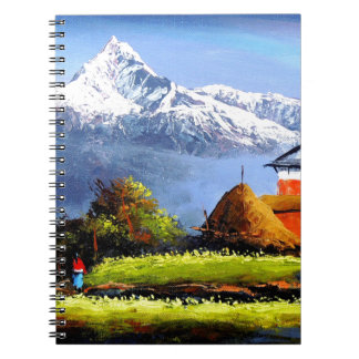 Panoramic View Of Beautiful Everest Mountain Spiral Notebook