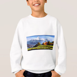 Panoramic View Of Beautiful Everest Mountain Sweatshirt