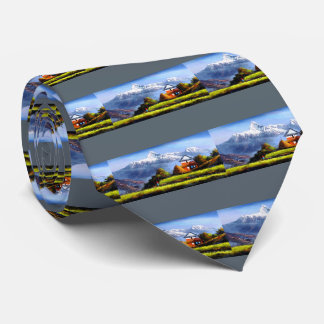 Panoramic View Of Beautiful Everest Mountain Tie