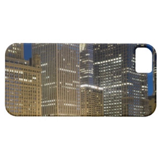 Panoramic view of buildings along the Chicago iPhone 5 Covers