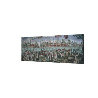 Panoramic view of Constantinople, late 18th centur Canvas Print