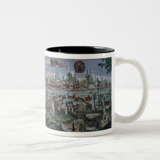 Panoramic view of Constantinople, late 18th centur Two-Tone Coffee Mug