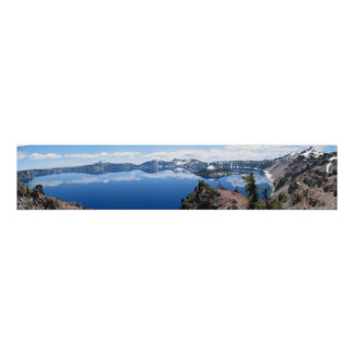 Panoramic view of Crater Lake Poster