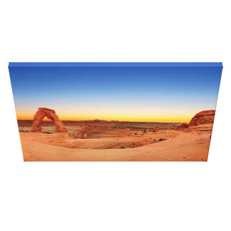 Panoramic view of Delicate Arch in Arches NP Canvas Print