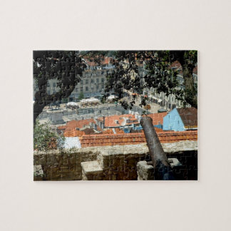 Panoramic view of downtown Lisbon Jigsaw Puzzle