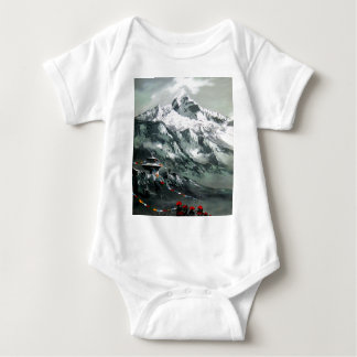 Panoramic View Of Everest Base Camp Baby Bodysuit