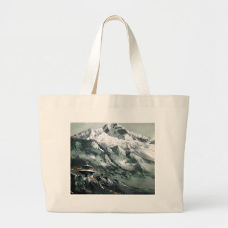 Panoramic View Of Everest Base Camp Large Tote Bag