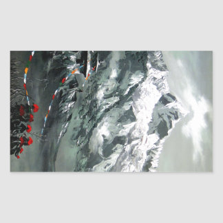 Panoramic View Of Everest Base Camp Rectangular Sticker