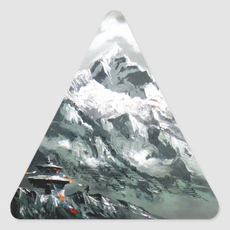 Panoramic View Of Everest Base Camp Triangle Sticker