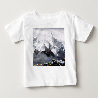 Panoramic View Of Everest Mountain Baby T-Shirt