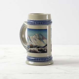 Panoramic View Of Everest Mountain Base Camp Area Beer Stein