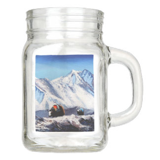Panoramic View Of Everest Mountain Base Camp Area Mason Jar