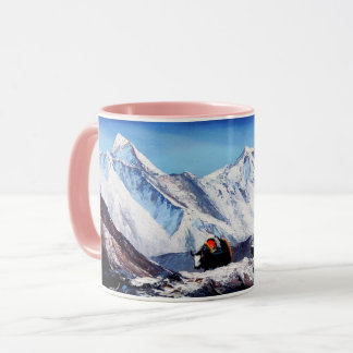 Panoramic View Of Everest Mountain Base Camp Area Mug