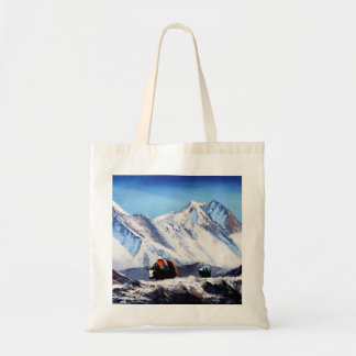 Panoramic View Of Everest Mountain Base Camp Area Tote Bag