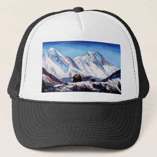 Panoramic View Of Everest Mountain Base Camp Area Trucker Hat