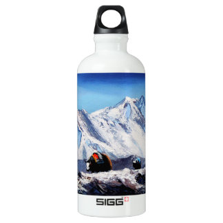Panoramic View Of Everest Mountain Base Camp Area Water Bottle
