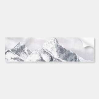 Panoramic View Of Everest Mountain Bumper Sticker