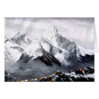 Panoramic View Of Everest Mountain Card