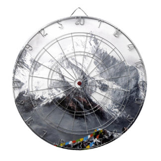 Panoramic View Of Everest Mountain Dartboard