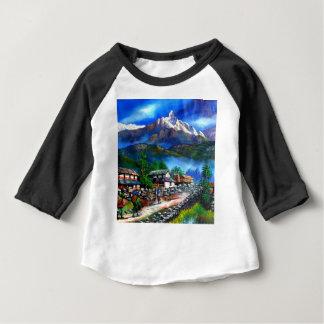 Panoramic View Of Everest Mountain Nepal Baby T-Shirt