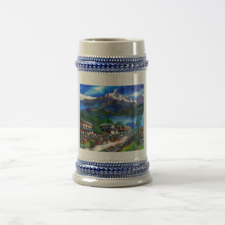 Panoramic View Of Everest Mountain Nepal Beer Stein