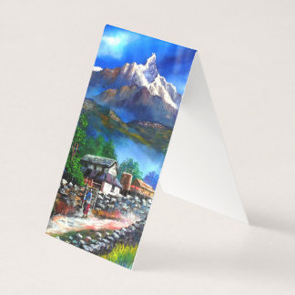 Panoramic View Of Everest Mountain Nepal Business Card