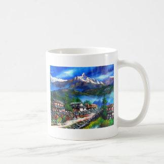 Panoramic View Of Everest Mountain Nepal Coffee Mug