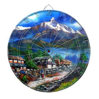 Panoramic View Of Everest Mountain Nepal Dartboard