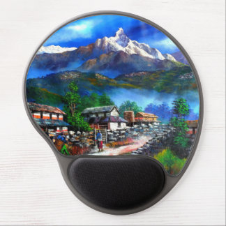 Panoramic View Of Everest Mountain Nepal Gel Mouse Pad