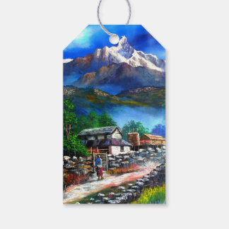 Panoramic View Of Everest Mountain Nepal Gift Tags