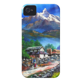 Panoramic View Of Everest Mountain Nepal iPhone 4 Covers