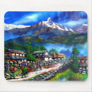 Panoramic View Of Everest Mountain Nepal Mouse Pad