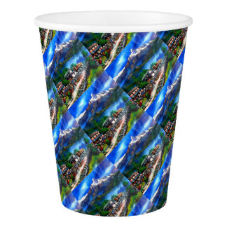 Panoramic View Of Everest Mountain Nepal Paper Cup