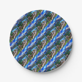 Panoramic View Of Everest Mountain Nepal Paper Plate