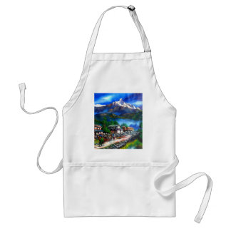 Panoramic View Of Everest Mountain Nepal Standard Apron