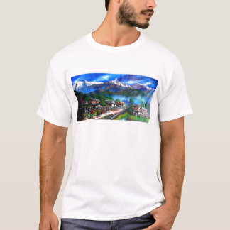 Panoramic View Of Everest Mountain Nepal T-Shirt