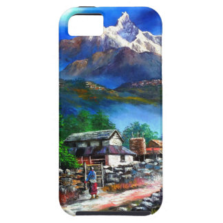 Panoramic View Of Everest Mountain Nepal Tough iPhone 5 Case