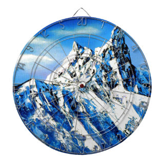 Panoramic View Of Everest Mountain Peak Dartboard