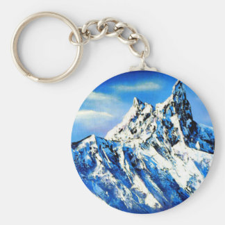 Panoramic View Of Everest Mountain Peak Key Ring
