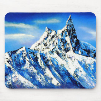 Panoramic View Of Everest Mountain Peak Mouse Pad