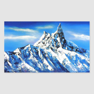 Panoramic View Of Everest Mountain Peak Rectangular Sticker