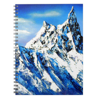Panoramic View Of Everest Mountain Peak Spiral Notebook