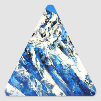 Panoramic View Of Everest Mountain Peak Triangle Sticker