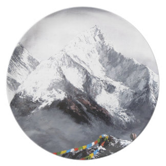 Panoramic View Of Everest Mountain Plate