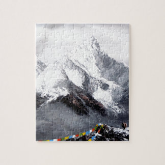 Panoramic View Of Everest Mountain Puzzles