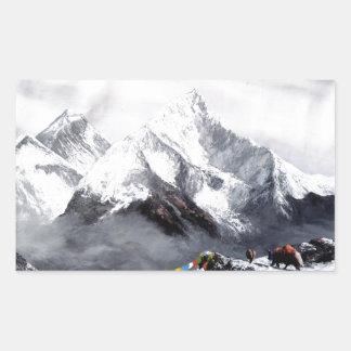 Panoramic View Of Everest Mountain Rectangular Sticker