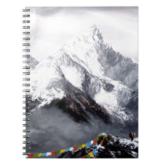 Panoramic View Of Everest Mountain Spiral Notebooks