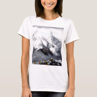 Panoramic View Of Everest Mountain T-Shirt