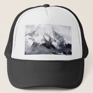 Panoramic View Of Everest Mountain Trucker Hat